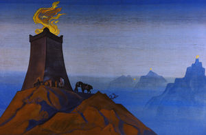 Nicholas Roerich - Flowers of Timur (The Lights of Victory)