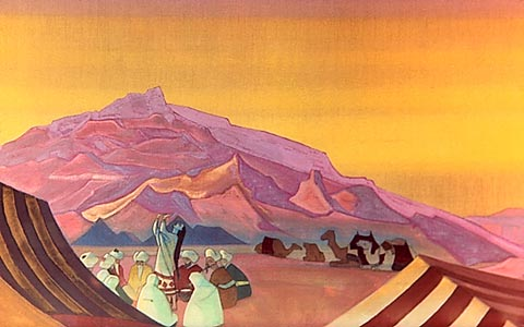 Oh, future!, 1933 by Nicholas Roerich (1874-1947, Russia) | Reproductions Nicholas Roerich | WahooArt.com