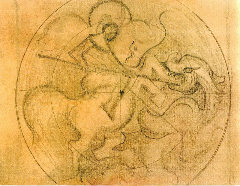Sketch for ``Light Conquers Darkness``, 1933 by Nicholas Roerich (1874-1947, Russia) | Paintings Reproductions Nicholas Roerich | WahooArt.com