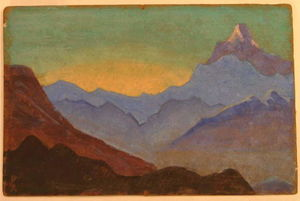 Nicholas Roerich - Sunrise in Himalayas