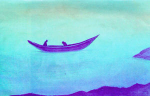 Nicholas Roerich - Sadness (Two in boat)