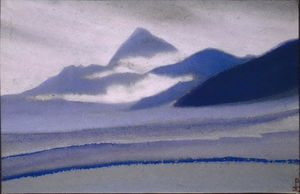 Nicholas Roerich - Siver clouds over the mountains
