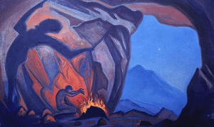Order Paintings Reproductions | Magician, 1943 by Nicholas Roerich (1874-1947, Russia) | WahooArt.com