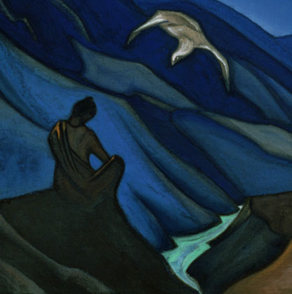 Testament of Teacher, 1947 by Nicholas Roerich (1874-1947, Russia) | Museum Art Reproductions Nicholas Roerich | WahooArt.com