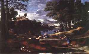 Nicolas Poussin - Landscape with a Man Killed by a Snake