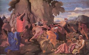 Nicolas Poussin - Moses Striking Water from the Rock