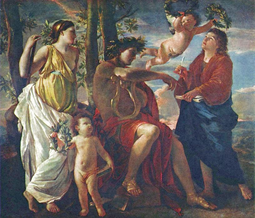 The Poet's Inspiration, Oil On Canvas by Nicolas Poussin (1594-1665, France)