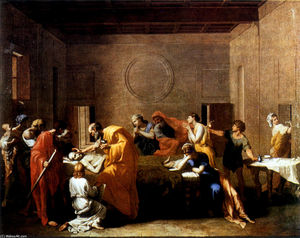 Order Art Reproduction : Extreme Unction, 1640 by Nicolas Poussin (1594-1665, France) | WahooArt.com