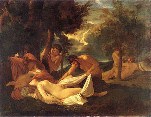 Nicolas Poussin - Sleeping Venus, surprised by Satyr