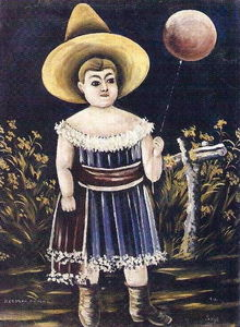 Niko Pirosmani - Girl with ball