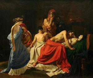 Nikolai Ge - Achilles and the body of Patroclus