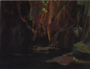 Nikolai Ge - Gorge in the mountains of Carrara