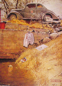 Norman Rockwell - The Swimming Hole
