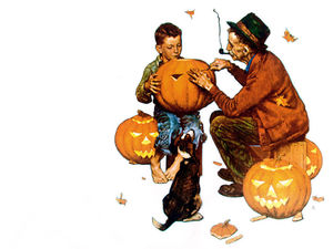 Norman Rockwell - Ghostly gourds