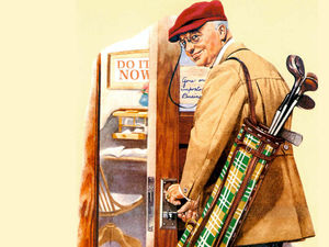 Norman Rockwell - Golf