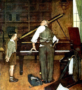 Norman Rockwell - Piano Tune