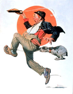 Norman Rockwell - Running with Pie