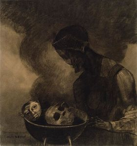 Odilon Redon - Cauldron of the Sorceress