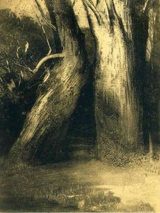 Odilon Redon - Two trees