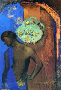 Odilon Redon - Saint John (The blue tunic)