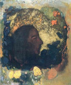 Odilon Redon - Black Profile (Gauguin)
