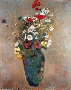 Odilon Redon - Vase with flowers