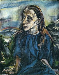Oskar Kokoschka - Portrait of a Young Girl