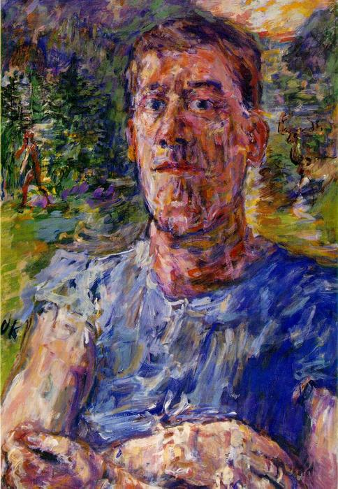 Self-portrait of a 'Degenerate Artist', Oil On Canvas by Oskar Kokoschka (1886-1980, Austria)