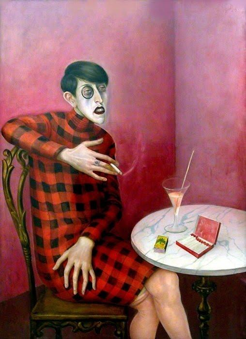 Portrait of the Journalist Sylvia Von Harden, Oil by Otto Dix (1891-1969, Germany)