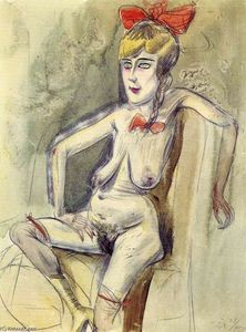 Otto Dix - Prostitute -- Girl with Red Bow