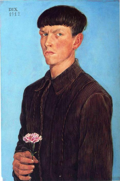 Self-Portrait, 1912 by Otto Dix (1891-1969, Germany) | Oil Painting | WahooArt.com