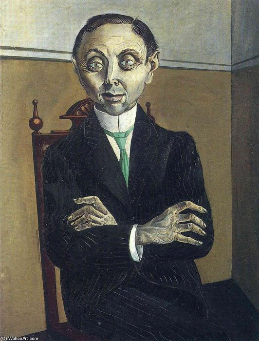 Portrait of Paul F. Schmidt, 1921 by Otto Dix (1891-1969, Germany) | Museum Quality Reproductions | WahooArt.com