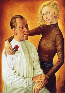 Otto Dix - Portrait of the Painter Hans Theo Richter and his wife Gisela