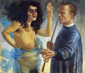 Otto Dix - Self-Portrait with Muse
