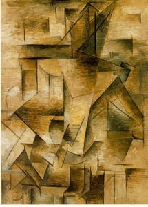 Order Oil Painting : Guitar player, 1910 by Pablo Picasso (1881-1973, Spain) | WahooArt.com