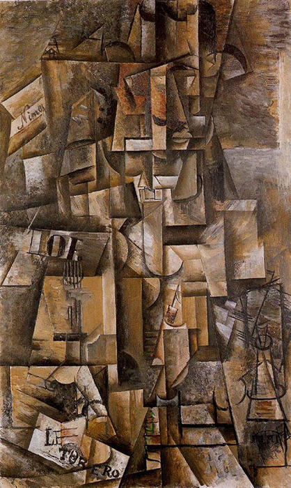 The aficionado (The torero), 1912 by Pablo Picasso (1881-1973, Spain) | Famous Paintings Reproductions | WahooArt.com