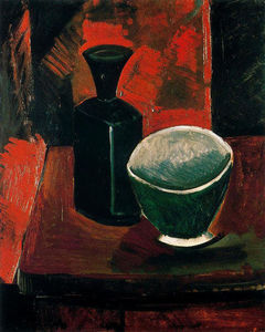 Pablo Picasso - Green Pan and Black Bottle