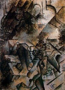 Pablo Picasso - Woman with guitar and piano