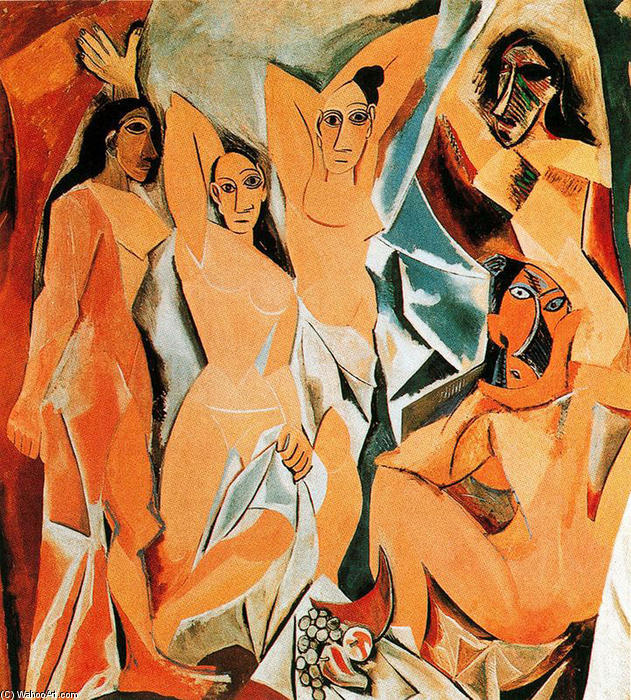 Order Oil Painting : The girls of Avignon, 1907 by Pablo Picasso (1881-1973, Spain) | WahooArt.com