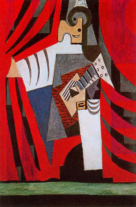 Pablo Picasso - Punchinello with guitar