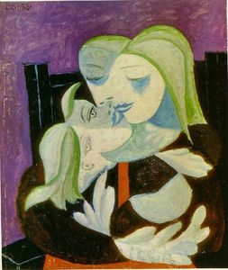 Pablo Picasso - Mother and child (Marie-Therese and Maya) - (oil painting reproductions)