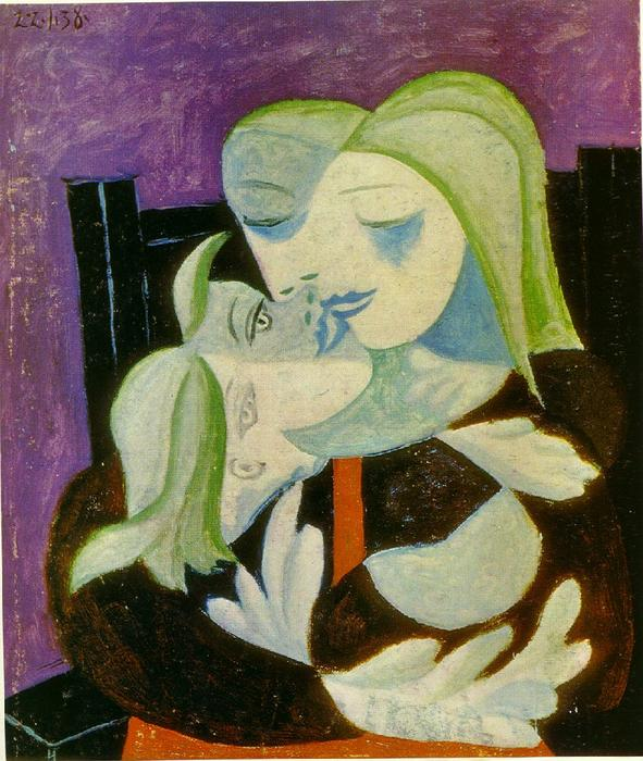 Mother and child (Marie-Therese and Maya), 1938 by Pablo Picasso (1881-1973, Spain) | Museum Quality Reproductions | WahooArt.com