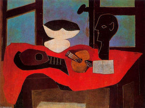 Pablo Picasso - Still life with bust and palette
