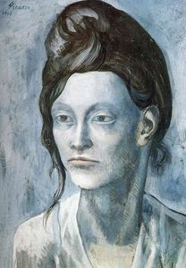 Pablo Picasso - Woman with her ??hair in a small bun