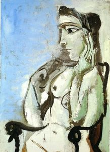 Pablo Picasso - Female nude sitting in the armchair