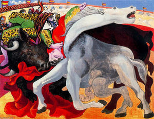 Pablo Picasso - Bullfight, the death of the torero