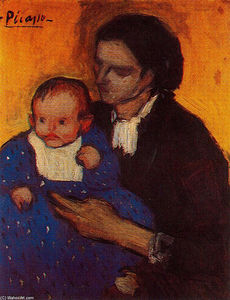 Pablo Picasso - Woman with child