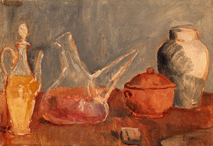 Pablo Picasso - Still life with vases
