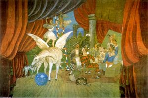 Pablo Picasso - Curtain for the ballet --Parade--