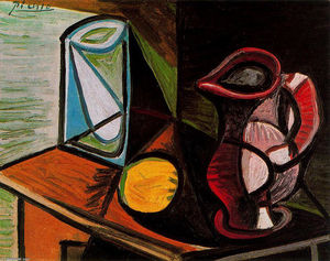 Pablo Picasso - Glass and pitcher